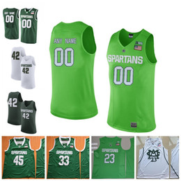 Michigan State Spartans College Basketball 1 Joshua Langford 2 Jaren  Jackson Jr. 23 Xavier Tillman Stitched Any Name Number Jerseys 54ceaedfa