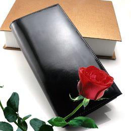 Wallet Business NZ - 2018 Men's new luxury fashion MB wallet genuine leather wallets business card case black long card holder credit card pocket