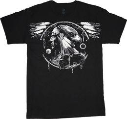 Tall Tee Men Canada - Big and tall t-shirt Native American Indian eagle tee shirt tall shirts for men