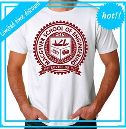 Gadgets Sale Australia - 2018 Hot Sale New T Shirt Men'S Short Macgyver School Gadgets O-Neck Tall T Shirt
