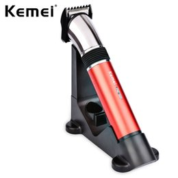 Discount kemei rechargeable electric shavers - Kemei KM-610 Electric Shaver Washable Hair Clipper Professional Rechargeable Hair Clipper Beard Trimmer Shaving Machine