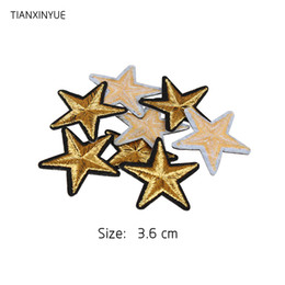 $enCountryForm.capitalKeyWord Canada - 2018 Brand 20PCs Star Embroidered Iron On Badges Patches For Clothing Cartoon Motif Applique Sticker For Clothes