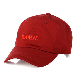 e15c0692d70 High Quality wine red kendrick lamar damn cap embroidery DAMN. unstructured  dad hat bone women men the rapper baseball cap