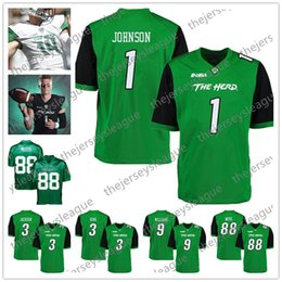 Wholesale Marshall Thundering Herd Tyler King Randy Moss Willie Johnson Marcel Williams Green Black Stitched NCAA College Football Jersey