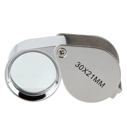 Складной 30X металл увеличительное лупа ювелир стекло объектива ювелирные изделия лупа
