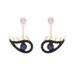 Gold earrinGs style online shopping - 2018 new design fashion jewelry gold color plated rhinestones eye charm women dangle earrings cc earring Europ style hot sale accessories cc