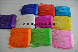 $enCountryForm.capitalKeyWord NZ - white orange hot pink light pink purple royal blue turquoise black red yellow lime green rooster feather trim fringe of 10 yards trim