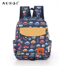 $enCountryForm.capitalKeyWord UK - AUSQI Little Cute Cartoon Bus Toddler School Backpack for Kid Boys Girls to Perschool Children Backpacks Bag with Chest Strap Y18120303
