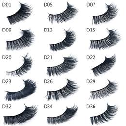 Wholesale Thick Mink D Hair False Eyelashes Makeup for Eyes Real Mink Hair Fake Lashes Black Cotton Stalk styles DHL Free