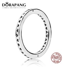 Vente en gros DORAPANG 2018 NOUVEAU 100% 925 Sterling Silver Ring Mode Populaire Charmes De Mariage Signature Cœurs D'anneau Pour Femmes DIY Bijoux
