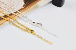 $enCountryForm.capitalKeyWord UK - 2018 hot sales plating 925 silver Gold 2mm Hemp rope chain Bracelet Foot chain Foot ornament 21.5cm+3cm girl woman Fashion ornaments
