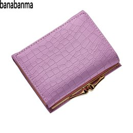 $enCountryForm.capitalKeyWord Australia - banabanma Crocodile wallet Pattern PU Leather Women Short Wallet Fresh Style Lady Notecase Female Purse With Coin Pocket ZK30