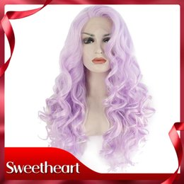 $enCountryForm.capitalKeyWord Australia - New Style Sexy High Temperature Fiber Side Part Natural Hairline Long Body Wave Hair Cosplay Purple Synthetic Lace Front Wig For White Women