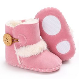 $enCountryForm.capitalKeyWord UK - Winter Warm Boots Rubber Soled Shoes Infant Toddler Newborn Baby Super Snowfield Wooden Buttons Boots S2