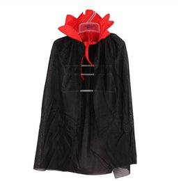 Wholesale Kids Vampire Witch Devil Cloak Stand Collar Cape Boys Girls Cosplay Costume Party Christmas Halloween Navidad