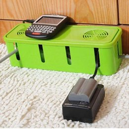 Wholesale Power Strip Cord Socket Storage Boxes Cable Manager Heat Emission Hole Container Dustproof Safety Socket Outlet Board Case