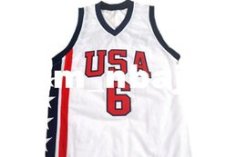 dae9c1e80ee0 wholesale Tracy McGrady  6 Team USA New Basketball Jersey White Stitched  Custom any number name MEN WOMEN YOUTH BASKETBALL JERSEYS