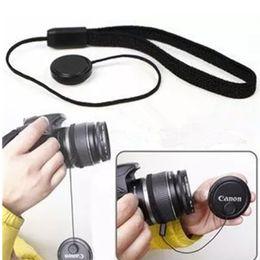 Dslr Camera Cap Australia - Jadkinsta Universal DSLR Lens Cover Cap Holder Keeper Strap Cord String Leash Rope for Camera Accessories