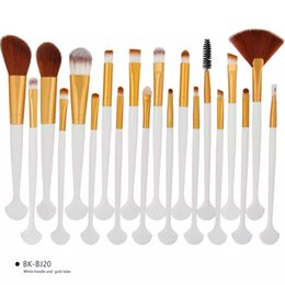 Goat Hair Dhl Australia - New MAKEUP Brush 20pcs set Shell Brushes Set Professional Eyeshadow Eeybrow Foundation Powder Concealer makeup Tools DHL shipping