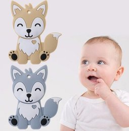 Diy silicone teething necklace online shopping - Baby Teether Food Grade Silicone DIY Necklace pendant Animal Teething Teeth Nursing baby molar training KKA6209