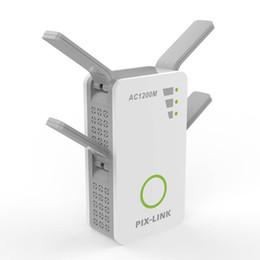 mini wifi wall 2019 - Wireless AC Dual Band 1200M 2.4Ghz 5GHz Mini Router Wifi Range With 4 External Antennas US EU UK AU Wall Plug