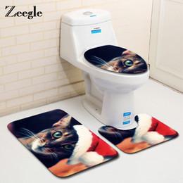 $enCountryForm.capitalKeyWord NZ - Christmas Decor 3Pcs Bath Mats Bathroom Set Non-slip Toilet Rug Bathroom Floor Mat Washable Pedestal Rug Lid Toilet Cover