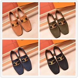 Discount models shoe size - 18ss Man loafers Luxury brand men dress shoes Business wedding shoes fashion Designer shoes Size 38-45 model