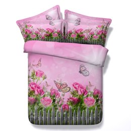 butterfly bedding queen NZ - 3D galaxy Duvet Cover bedding sets queen floral Bedspreads Holiday Quilt Covers Bed Linen Pillow Covers pink butterfly