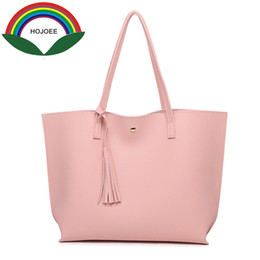$enCountryForm.capitalKeyWord Canada - Hojoee Luxury Women 'S Handbags Leather Tophandle A Bag Women Tote Tassel Casual High Quality Bags For Women Pouch Designer