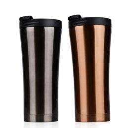 cold steel water bottle Australia - Hot Sale 350ml Double Wall stainless steel auto cup thermos Vacuum Thermo flask bottle travel coffee mug mini hot cold water