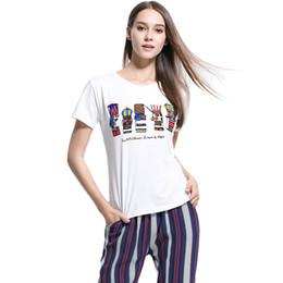 Pop Tees Australia - K-pop Women Summer T-shirt Round Neck Short Sleeve T Shirt Cute Cartoon Printed Casual Tops White Tee Shirt Femme 2019