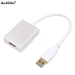 Discount hdmi cable laptop usb - kebidu USB 3.0 To HDMI Adapter Converter Cable Multi Display Graphic Adapter For HDTV LCD PC Laptop Audio Video Cable