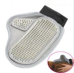 Glove cat hair online shopping - Comfortable Pet Grooming Glove Hair Remover Mitt Cat Bath Wash Brush Dogs Cleaning Massage Cat Comb