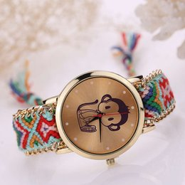 Woman National Wind Weave Diy Little Monkey Bracelet Watch 3# Latest Fashion Watches