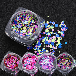 Nail Glitter Mix Size Multi Shape Heart Round Star Decoration Holographic Nail Art Sequins Laser Transparency Glittering Thin Nail Paillette Beauty & Health