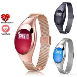 $enCountryForm.capitalKeyWord NZ - Z18 Smart band Blood Pressure Heart Rate Monitor Pedometer bluetooth wristband For IOS Android Women Gift Luxurious Watch Dress Watches