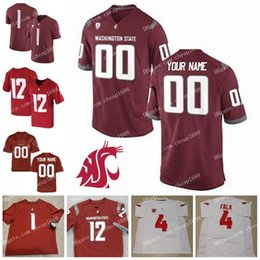 Football Numbers Australia - Custom Washington State Cougars 3 Tyler Hilinski 16 Gardner Minshew II 32 James Williams Stitched Any Name Number WSU College Football Jerse