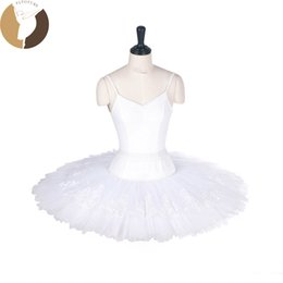 86a9eff856 FLTOTURE LL2002 Girls Practice Half Tutu Skirt White Half Tutus With Lace  Decoration 7 Layers Skirts For Ballet Competition