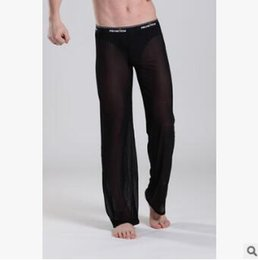 $enCountryForm.capitalKeyWord Canada - Supply wholesale men's net yarn trousers casual pants home pants transparent trousers men's shape underwear Style trousers, pants-type loos