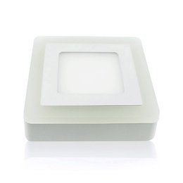 Square Bathroom Ceiling Lights Australia - 5pcs lot LED Square Panel light Surface Mounted LED Double colors Ceiling Downlight AC85-260V Power Supply Included