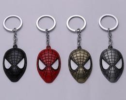 $enCountryForm.capitalKeyWord UK - Super Hero Spider-man Keychain Superhero Spiderman Red Mask Metal Keyring For Men Fashion Car Key Chain