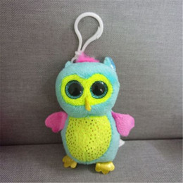 owl toys for kids 2018 - Ty Beanie Boos Big Eyes Plush Toy Doll 10CM owl Keychain TY Baby For Kids Gifts juguetes brinquedos cheap owl toys for k