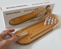 mini bowling toys 2019 - 2018 Mini entertainment bowling bowling game set wooden bowling alley puzzle innovation toys table kids toys discount mi