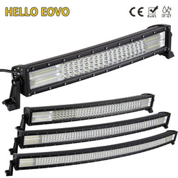 52 led light bar Australia - HELLO EOVO 22 32 42 52 inch Curved LED Light Bar for Work Indicators Driving Offroad Boat Car Tractor Truck 4x4 SUV ATV 12V 24V