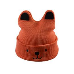 6054a6ed36f Cute Cartoon Bear Kids Beanies Hat Autumn Winter Warm Baby Wool Knitted Cap  Boy Girl Hats Skullies Children Christmas Gift