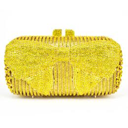 $enCountryForm.capitalKeyWord Canada - Luxury Pink bowknot Evening Clutch Bag Plum blossom Pattern Blue Crystal Diamond Evening Bag Wedding Purse soiree pochette sc554