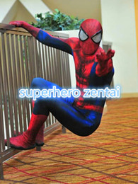 $enCountryForm.capitalKeyWord Canada - 2018 Newest Classic Spider-man costume Cosplay Zentai 3 Digital Printing Spidey Superhero Costume with Spiderman Lenses customized