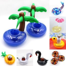 $enCountryForm.capitalKeyWord NZ - Mini Cute flamingo floating inflatable drink Coke Can holder for Pool Bath Kid Toy Gifts Swimming Accessories