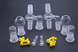 glass dome oil 18mm Australia - Glass Oil Reclaimer dropdown adapter Kit 18mm 14mm Male female Joint with Dome Keck Clip Glass nail for Glass oil rig bong pipe