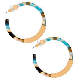 Wholesale Resin Hoop Earrings NZ - Dream-it-possible Trendy Geometric New Punk Style Acrylic Resin Hoop Earrings For Women Gift Statement Charm Jewelry Wholesale